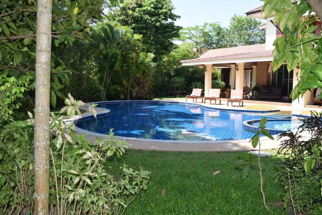 Secluded swimming pool