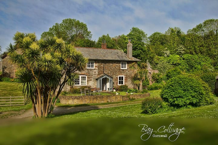 Charming cottage with a castle wall - Empacombe, Mount Edgcumbe - Hus