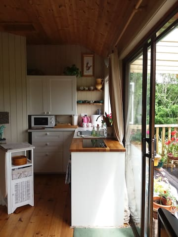 Kitchen with a view.