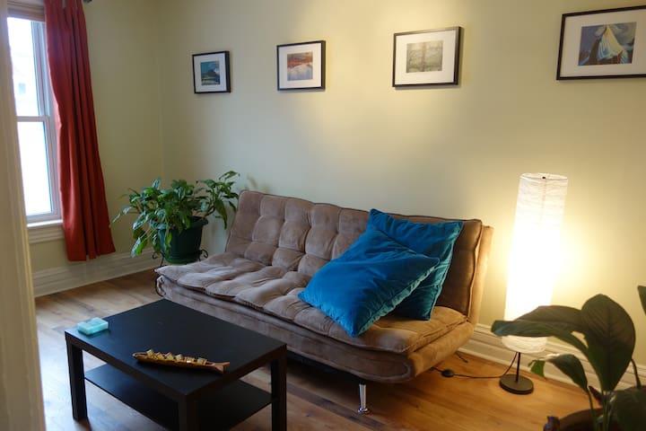 Quiet Downtown, 2 level, Family-friendly Apartment