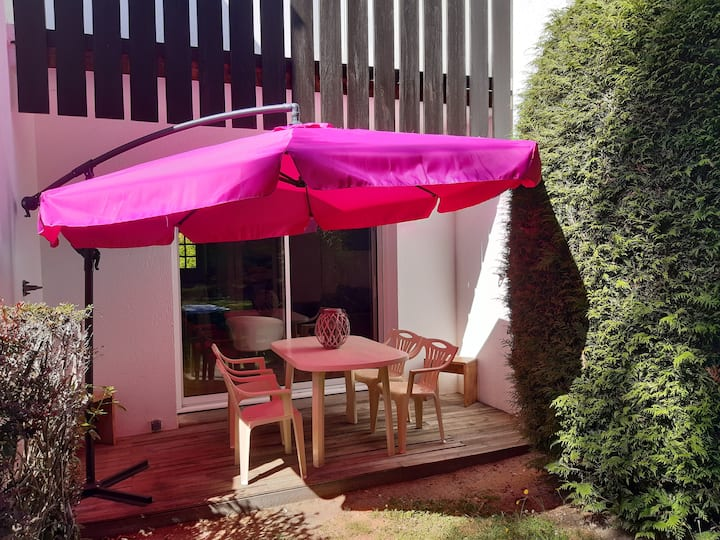 Appartement avec jardin au pied du Golf St Laurent