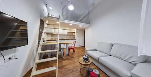 公寓配有Galery、市中心、免費自行車
