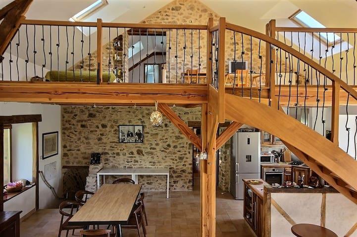 Cuisine, salle à manger, mezzanine