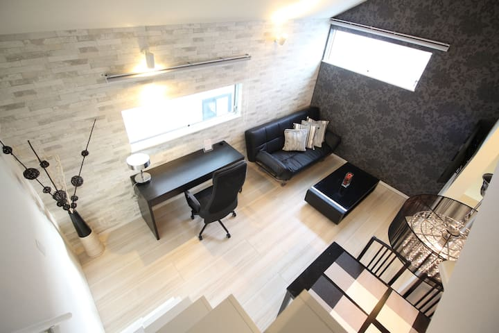 ASA204 8min Shibuya|New built lofted room