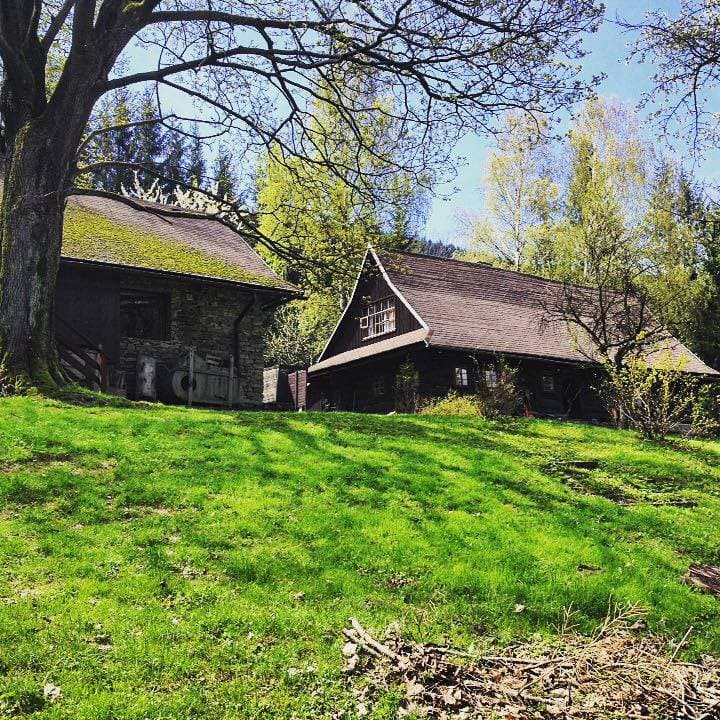 Old cottage in Morávka in Beskydy mountains