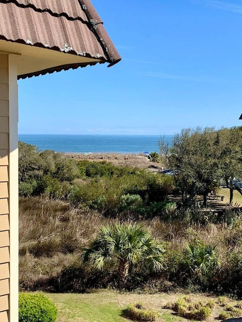 Updated ocean view villa with private beach access