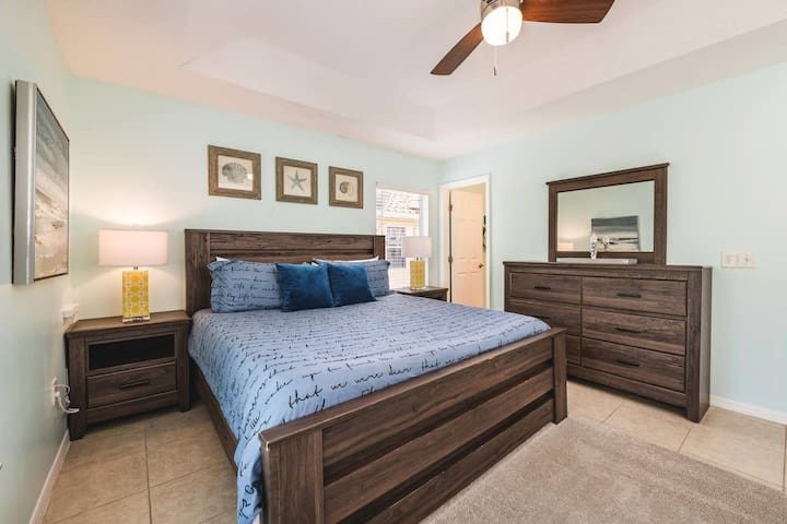 Master Bedroom - We strive to make your stay as comfortable as possible and select mattresses based on how fast you fall asleep on them...this one is a record setter for most people :)