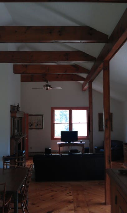 Contemporary, High Ceiling Post and Beam