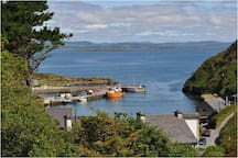 View from Cluain Mara to harbour at cape Clear Island, Co Cork.