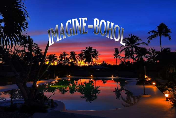Imagine-Bohol n °5 view on the pool lagoon shaped