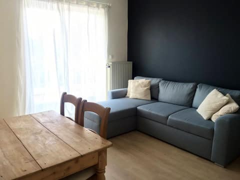 Room with balcony, 2 km of the airport of Brussels