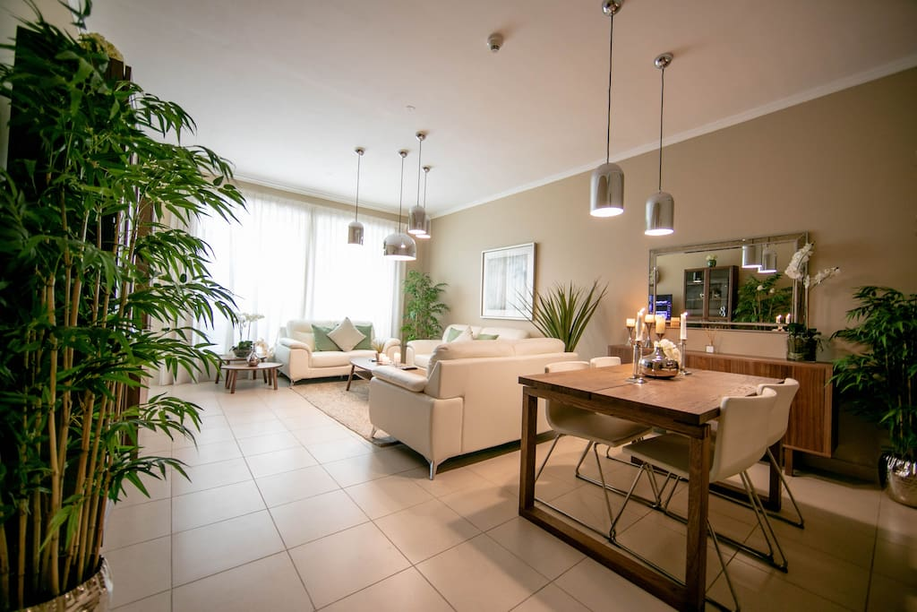 Delight your senses in our vast and spotless living area and dining area