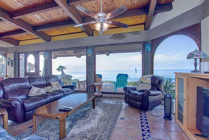 """Exclusive gated beachfront private steps to beach"