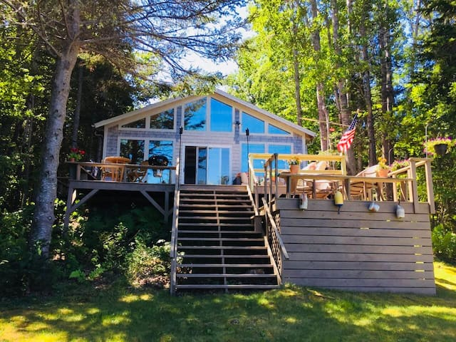 Oceanfront Acadia Cottage