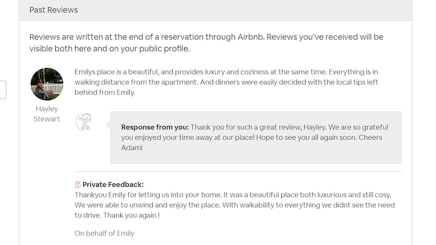 Here what our latest guests had to say!