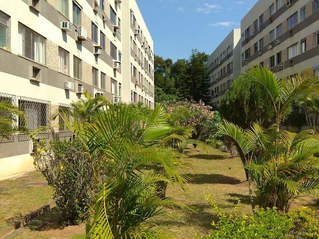 Jardim do apartamento,