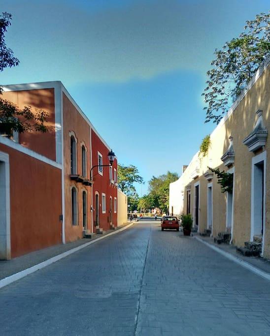Famous Calzada de los Frailes 3 blocks from Casa Sisal
