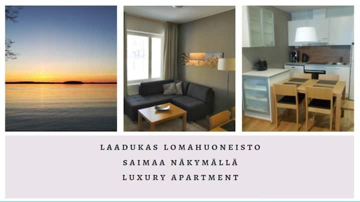 Laatuhuoneisto Saimaa näkymällä- Luxury apartment