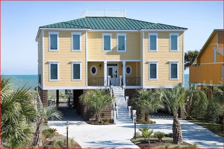 Oceanfront Myrtle Beach Home - Sleeps 26. 8br/8.5 - Myrtle Beach - House