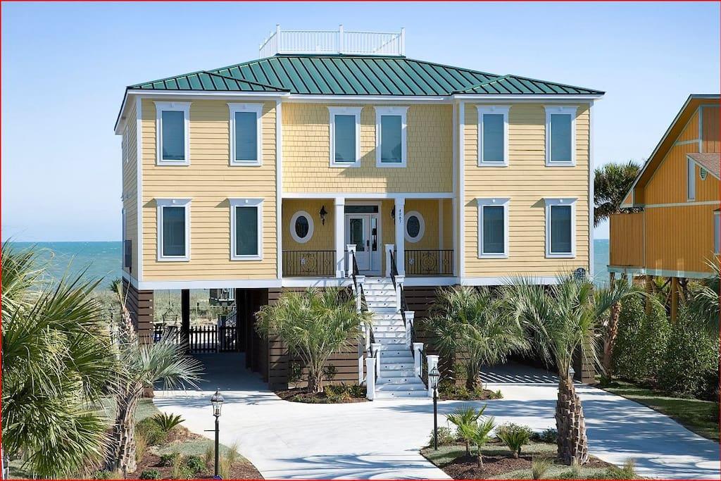 Oceanfront myrtle beach home sleeps 26 8br 8 5 houses - 5 bedroom oceanfront north myrtle beach ...