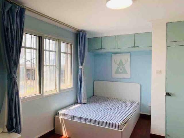 阳光双床大卧室 北土城 北三环中轴线 奥体鼓楼后海 Central Spacious Bedroom