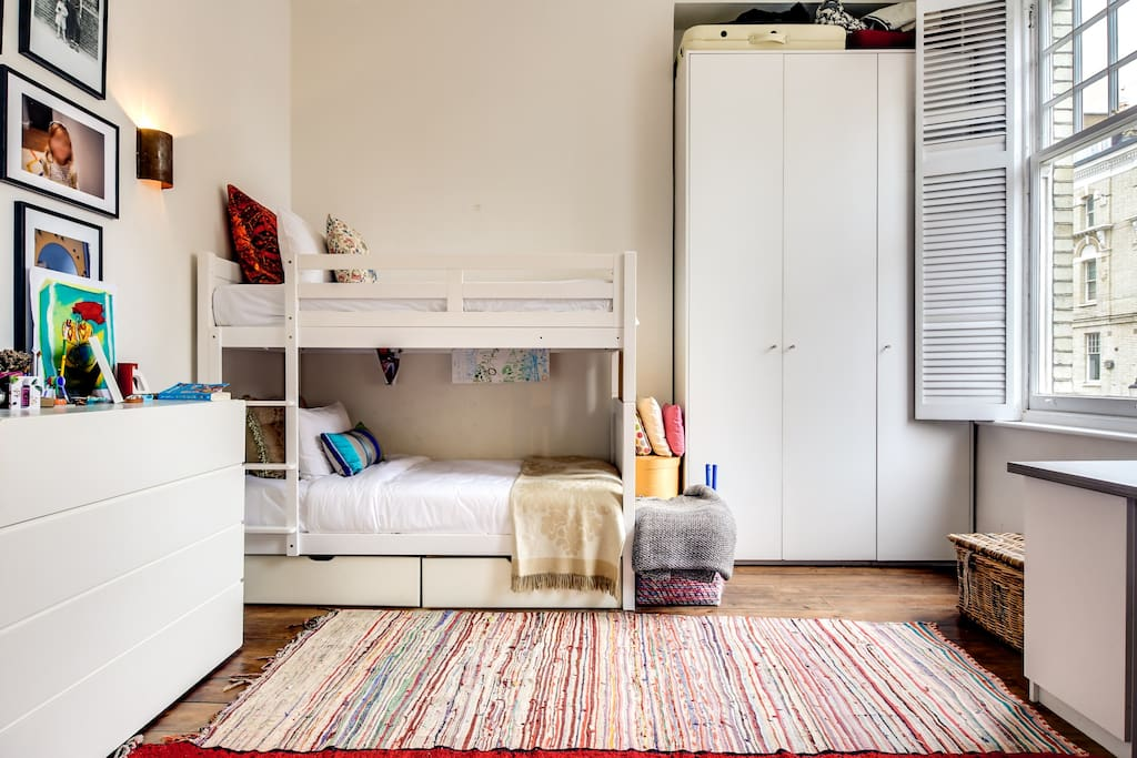 Second bedroom with comfortable bunk beds