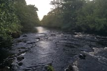 The Deel river flows for over a mile through our property, and is a delight to walk alongside in all weathers.  The fishing is good depending on the weather and the month..both salmon and trout are plentiful It's a fisherman's/fisherwoman's paradise