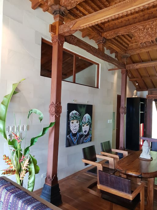 Dining Room under hand carved Tumpang Sari