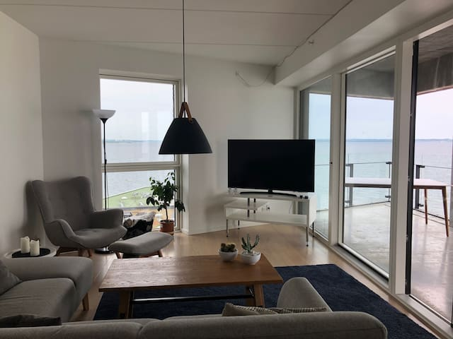 Stor luksuslejlighed m. panoramaudsigt på Aarhus Ø