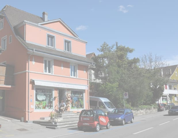 Colorful 6 room house/3 bathrooms 10min from Basel - Dornach - Huis