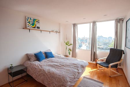 Spacious room w/panoramic view in Condesa - Ciudad de México