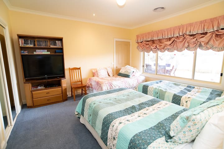 Bedroom 2 - three king singles
