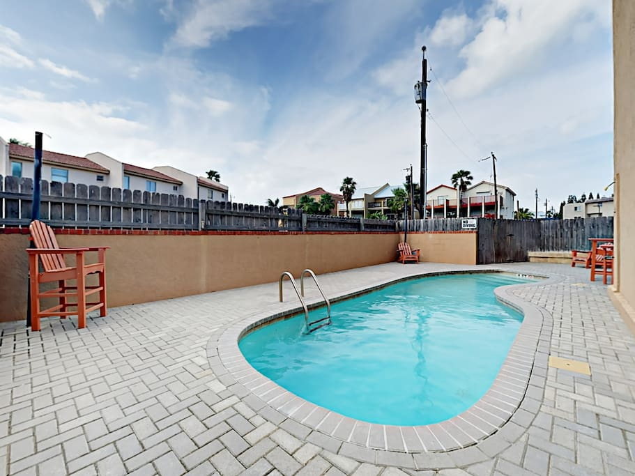 Enjoy access to the sparkling shared pool.