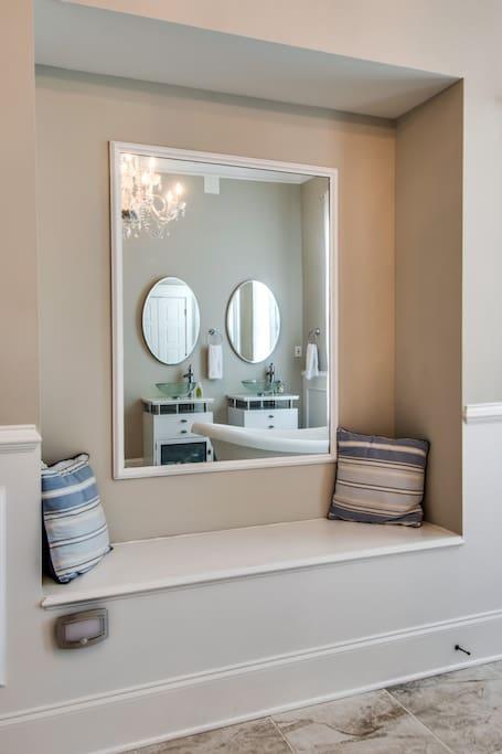 Mirror inside bathroom