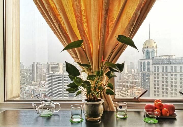 【琛琛家园】曼哈顿简约风格豪华大单间高层公寓