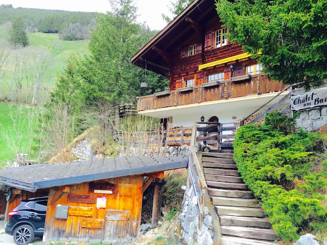 Authentic chalet with amazing view - Jaun - Alpstuga