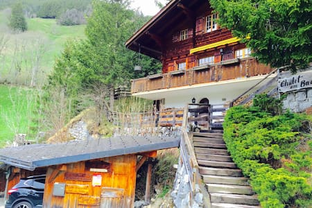 Authentic chalet with amazing view - Jaun - Chalé
