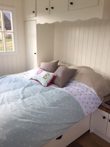 An lovely cosy double bed