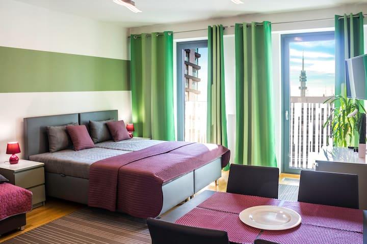 Apartament w rezydencji w centrum Pragi · parking