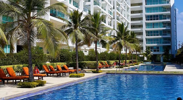 Ideal to relax and chill by the beach in cartagena