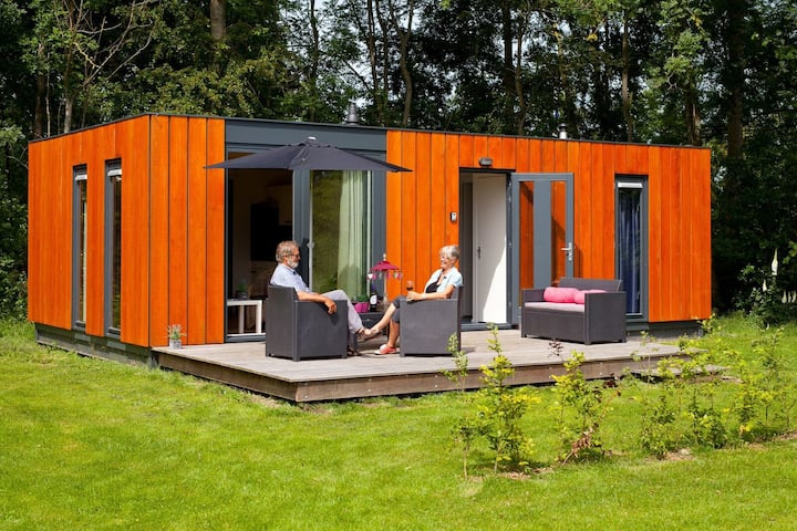 Cozy 4 person chalet in the Frisian nature