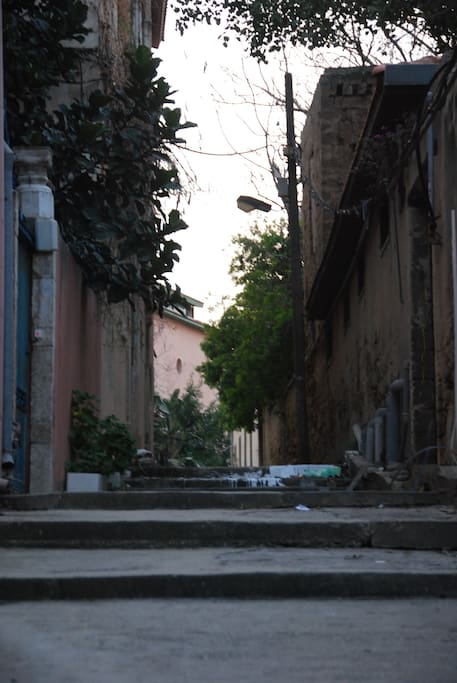 the beautifull narrow alley's of the old city