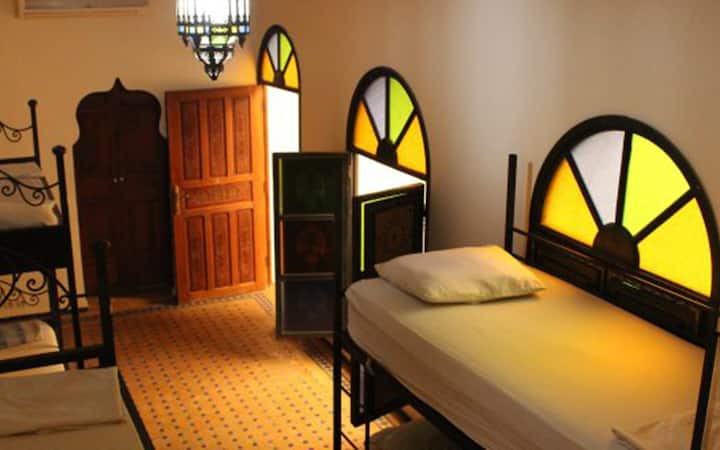 12 bed shared dorm in the Medina of Fes