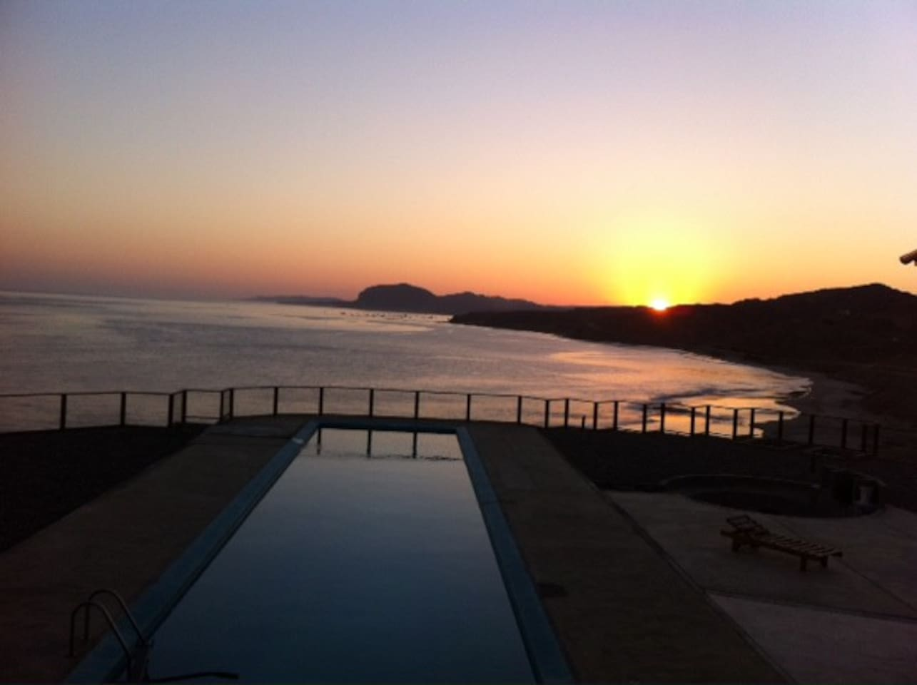 A beautiful sunrise from our terraza.