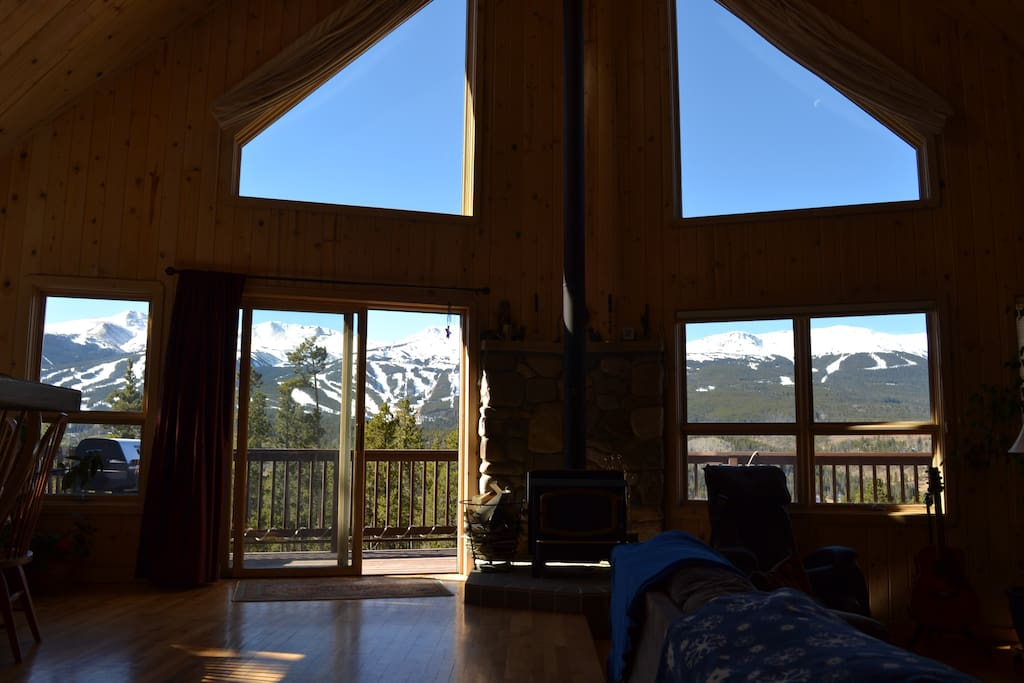 View of ski area from great room