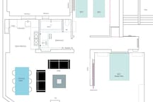 Central CANAL 75m2 Design Quiet 2BR
