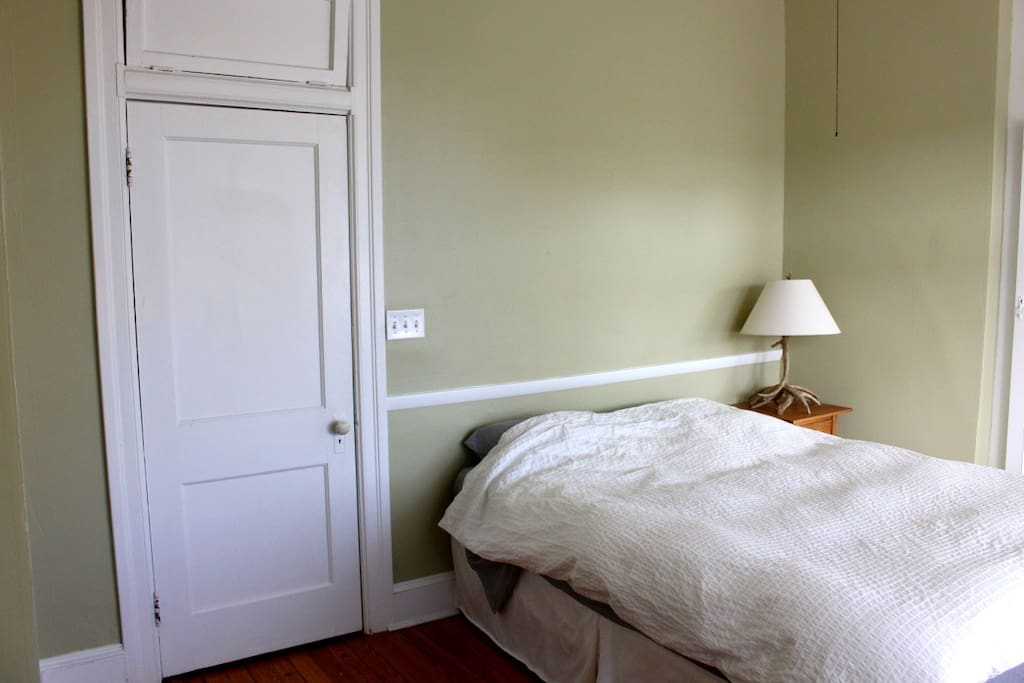 Guest room 1, with queen bed