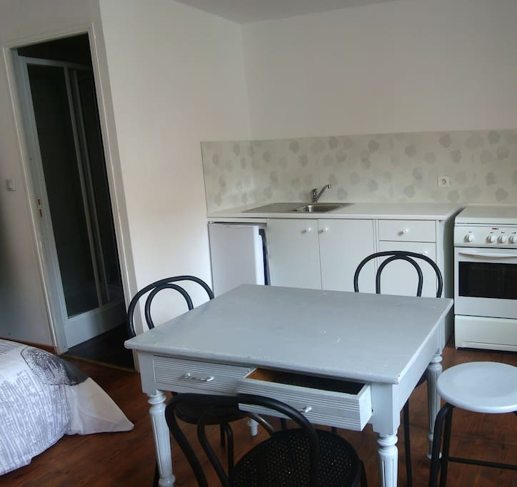 un studio meubl au coeur de saint etienne flats for rent in saint tienne auvergne rh ne. Black Bedroom Furniture Sets. Home Design Ideas