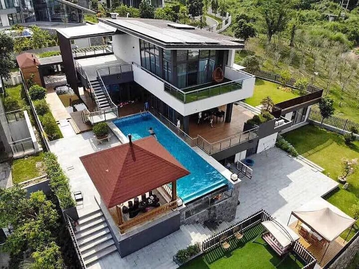 长泰天柱山附近带泳池度假别墅