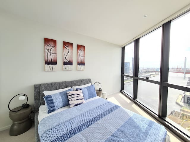Stylish waterview apartment.